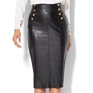New York & Co Faux Leather Pencil Skirt.